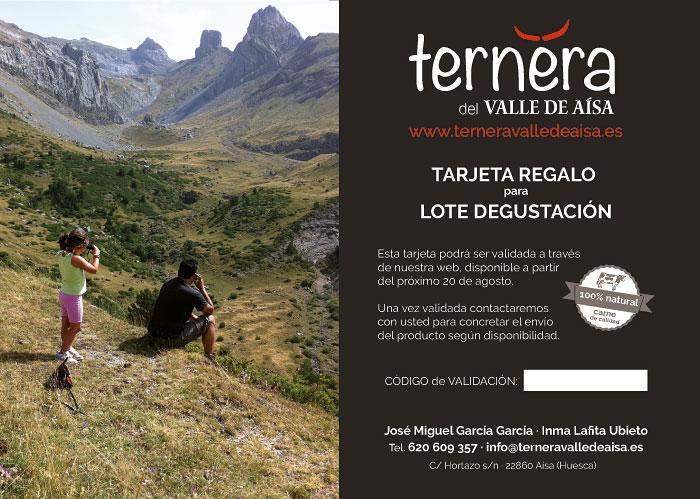 Tarjeta regalo de Ternera Valle de Aísa