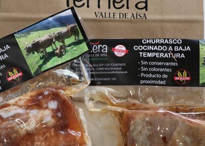Churrasco cocinado a baja temperatura Ternera Valle de Aísa